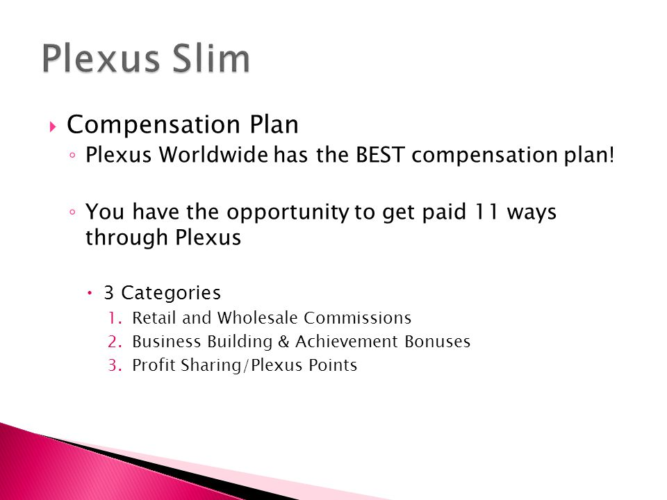 Plexus Slim Compensation Plan