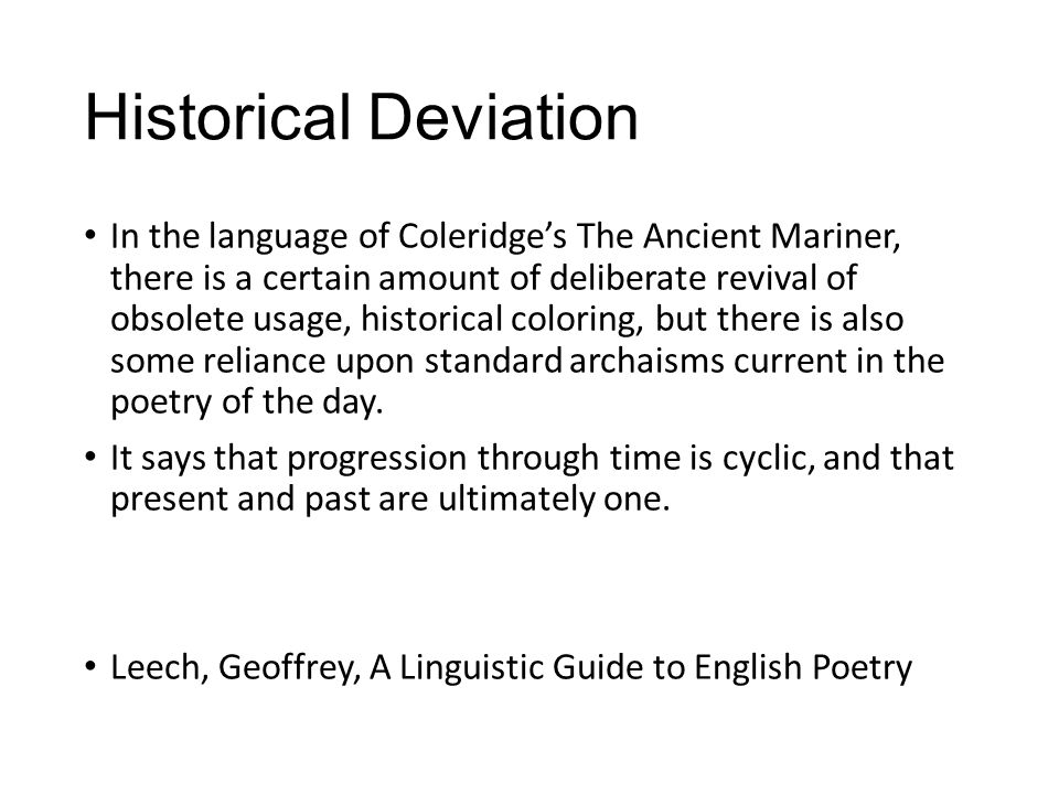 Historical Deviation