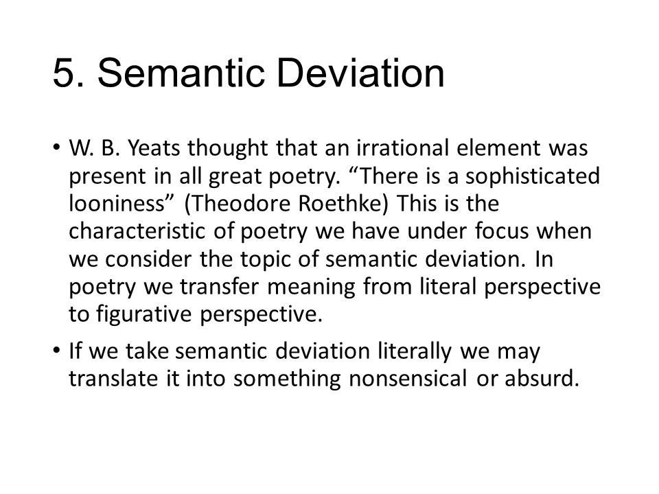 5. Semantic Deviation