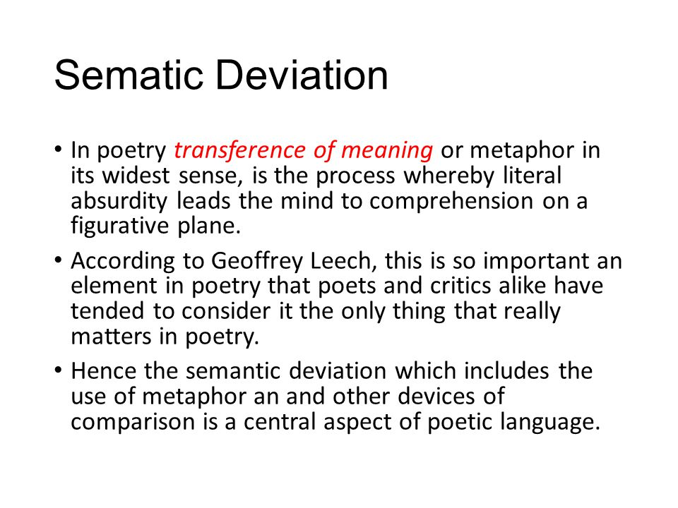 Sematic Deviation