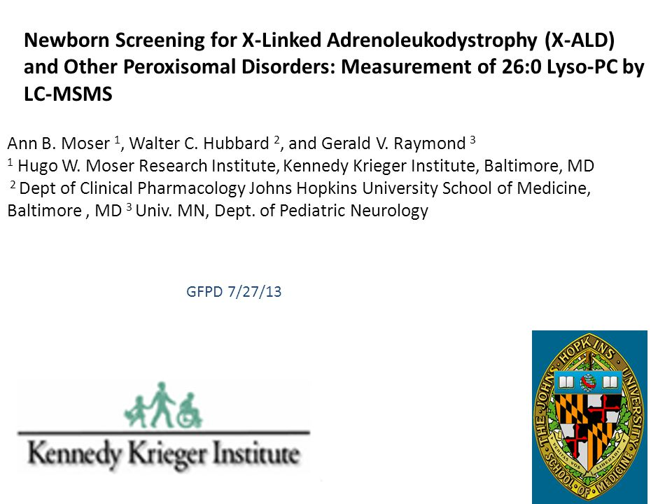 Newborn Screening for X-Linked Adrenoleukodystrophy (X-ALD) and Other Peroxisomal Disorders: Measurement of 26:0 Lyso-PC by LC-MSMS