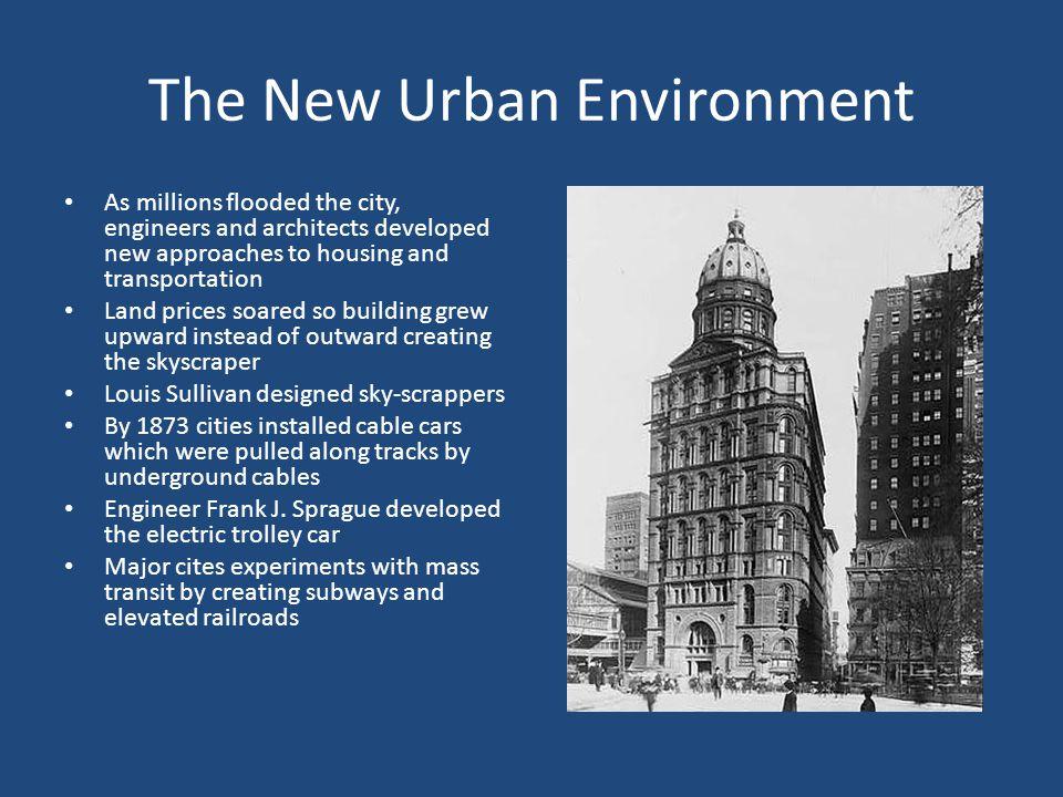 The New Urban Environment