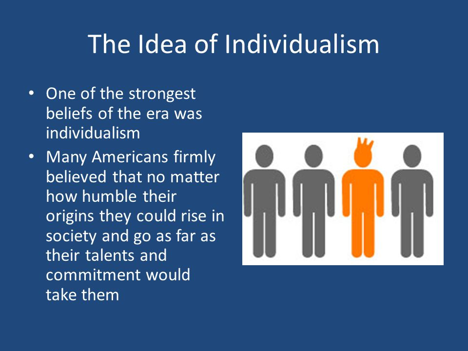 The Idea of Individualism