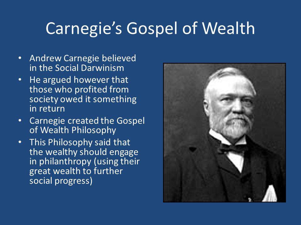 Carnegie's Gospel of Wealth