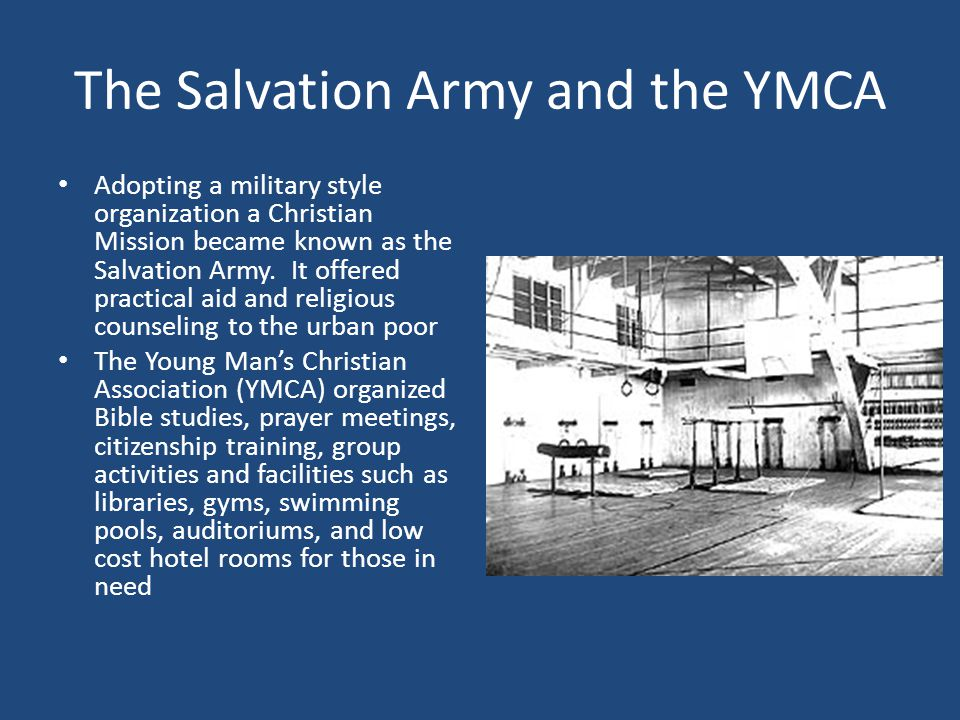 The Salvation Army and the YMCA