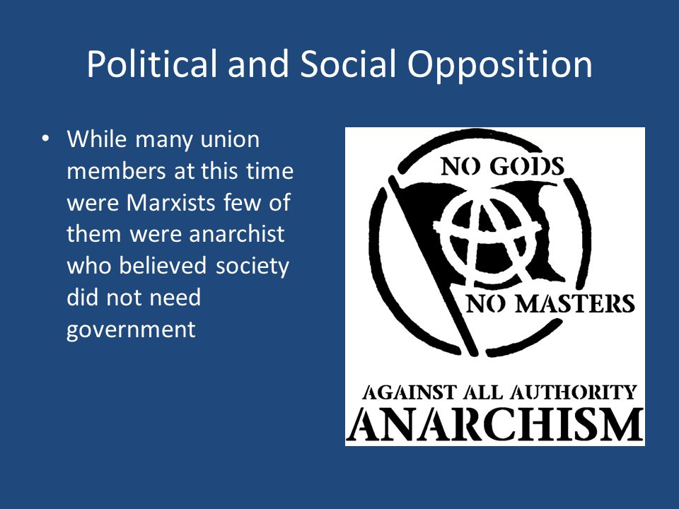 Political and Social Opposition