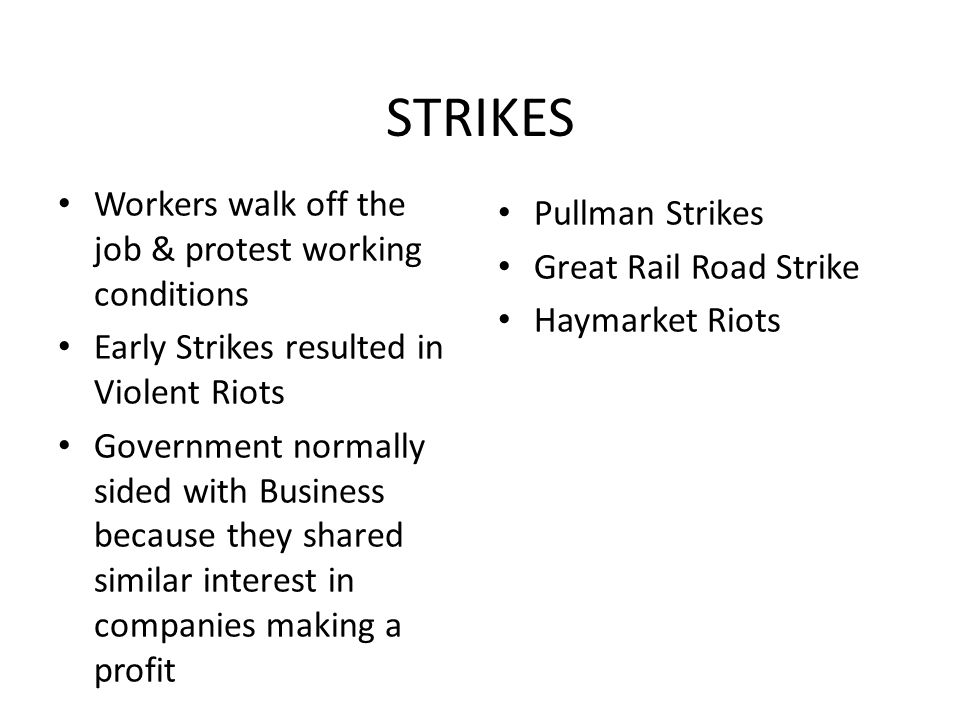 STRIKES Workers walk off the job & protest working conditions