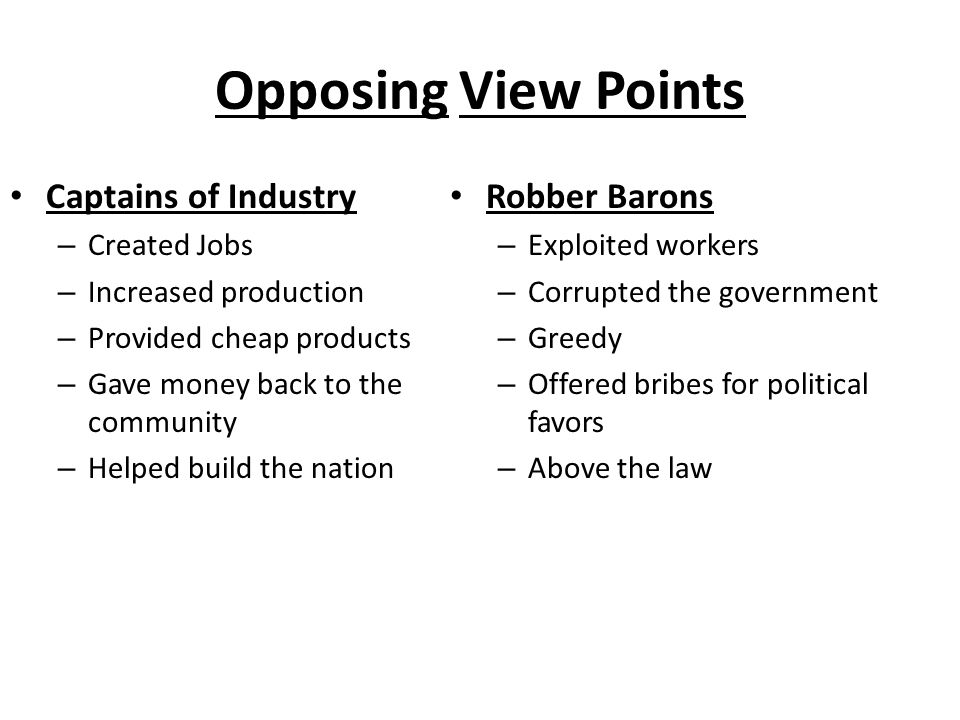 Robber baron vs captain industry