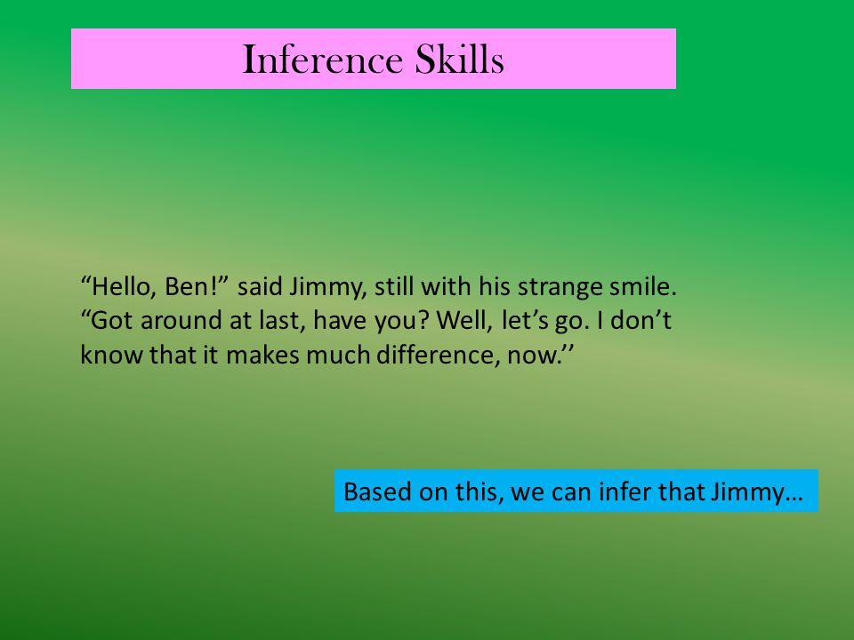 Inference Skills