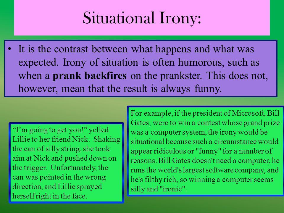 Situational Irony: