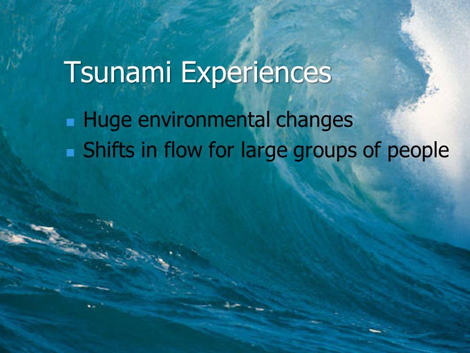 Tsunami Experiences Huge environmental changes