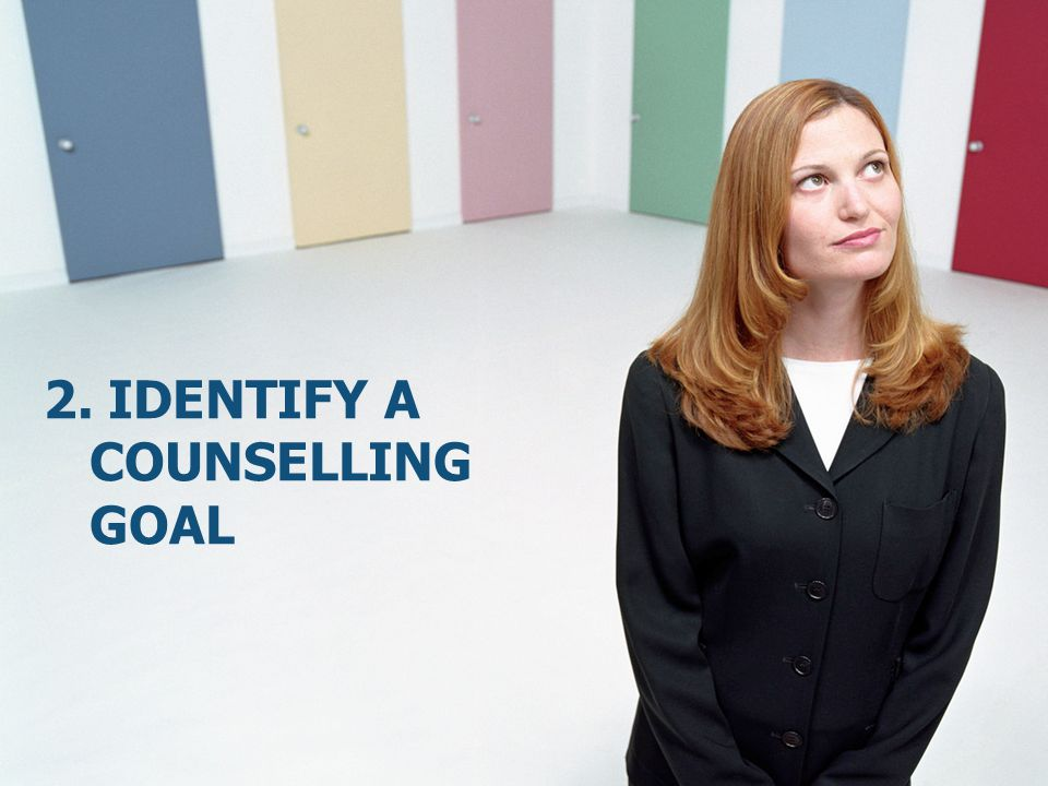 2. Identify a counselling goal