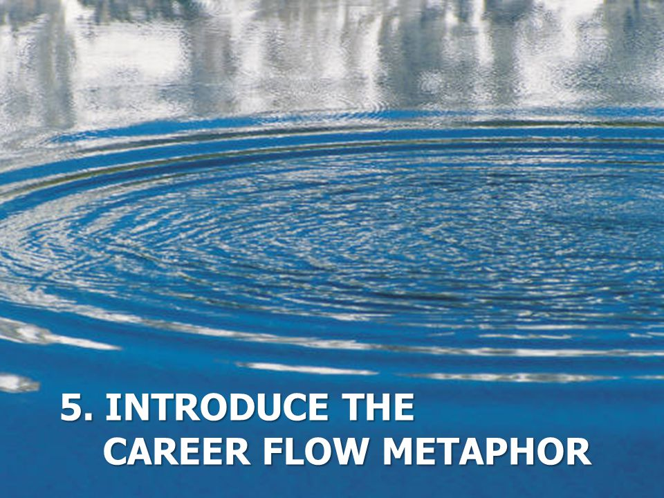 5. Introduce the Career flow metaphor
