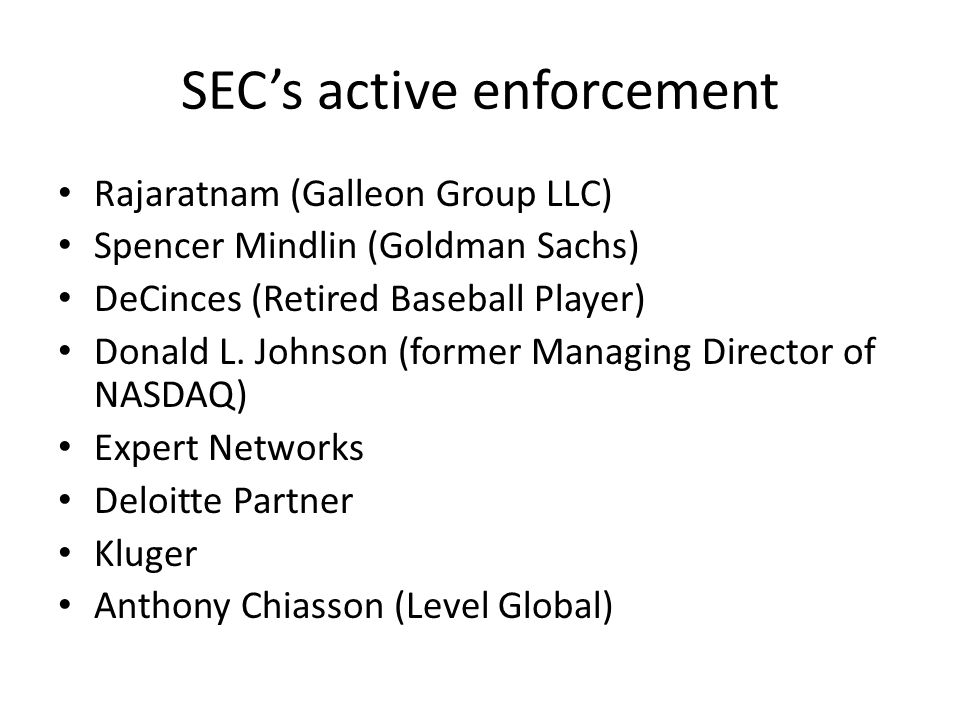 SEC's active enforcement