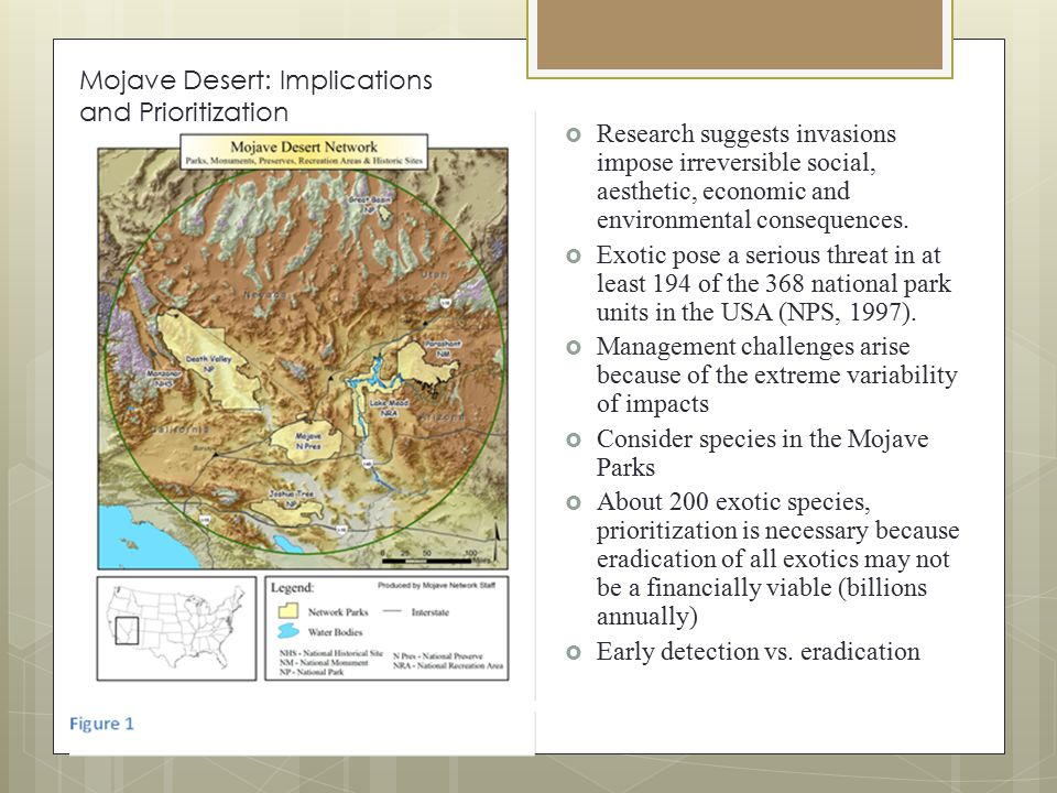 Mojave Desert: Implications and Prioritization