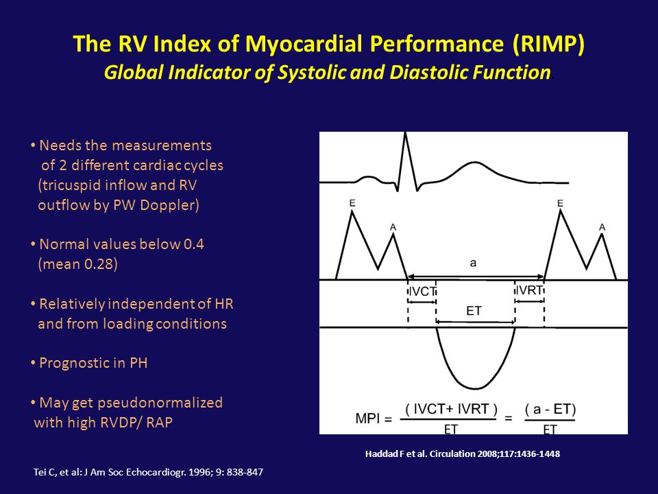 The RV Index of Myocardial Performance (RIMP)