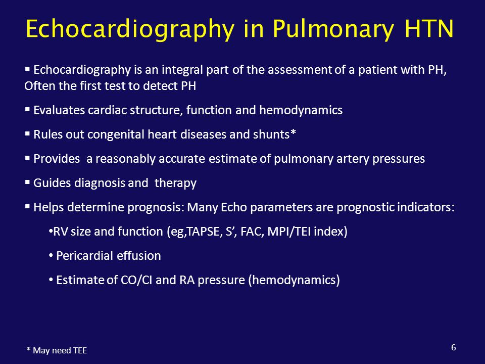 Echocardiography in Pulmonary HTN
