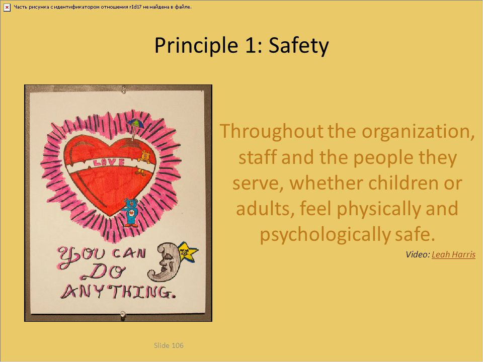 Principle 1: Safety