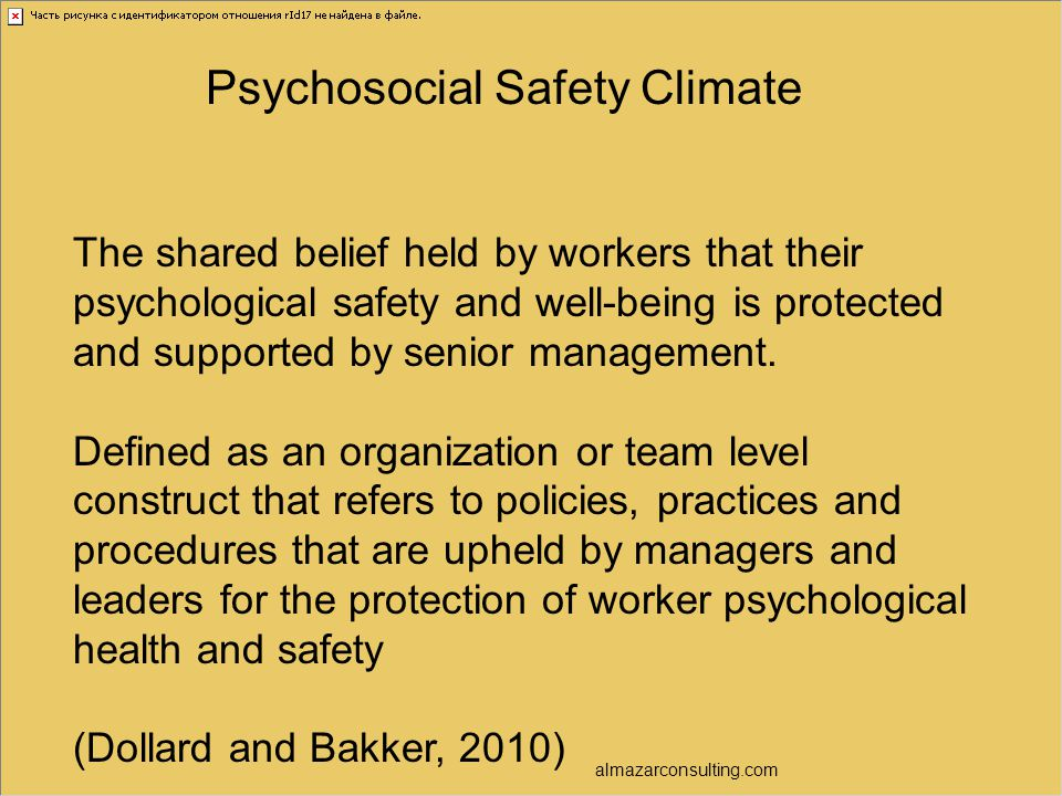 Psychosocial Safety Climate