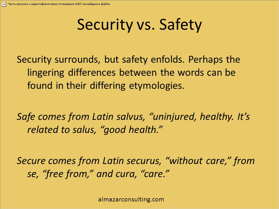 Security vs. Safety