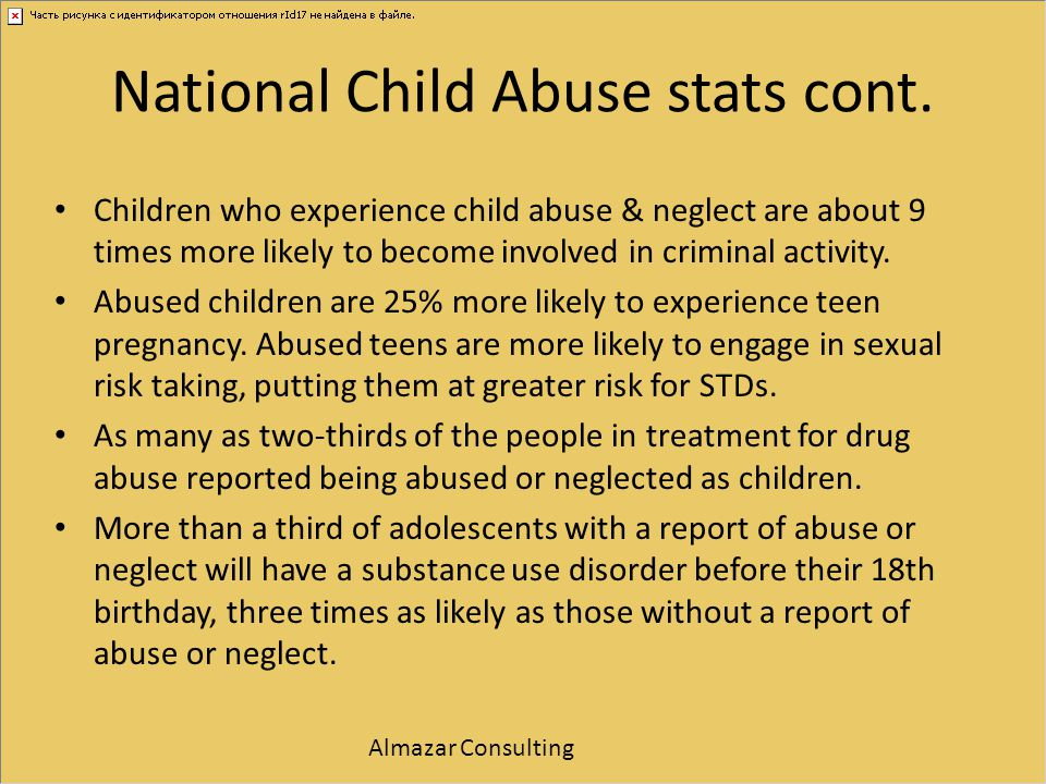 National Child Abuse stats cont.