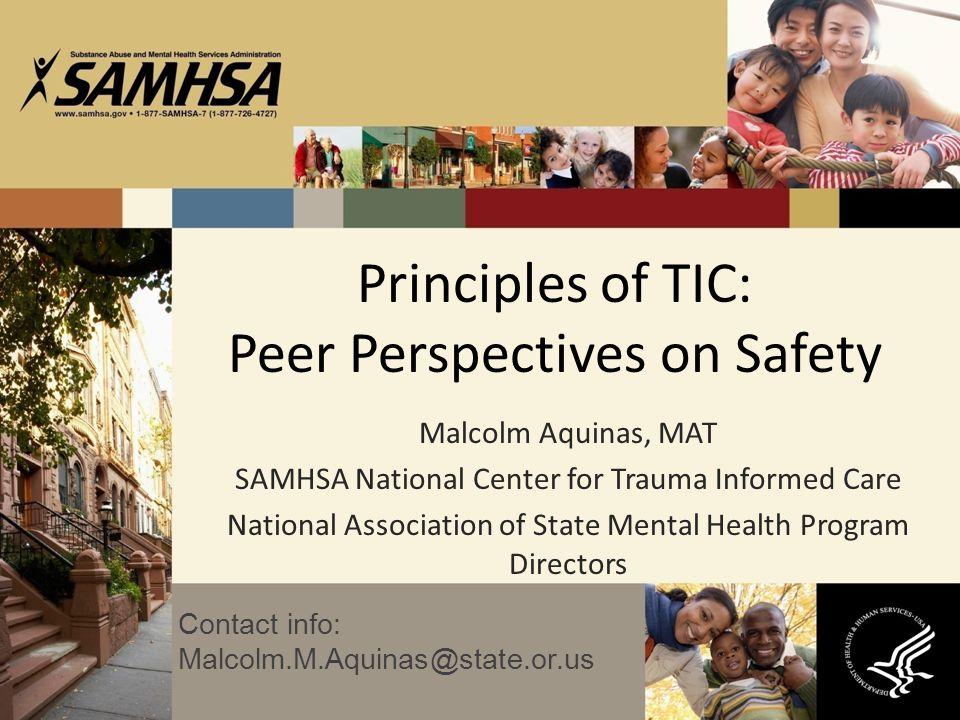 Principles of TIC: Peer Perspectives on Safety