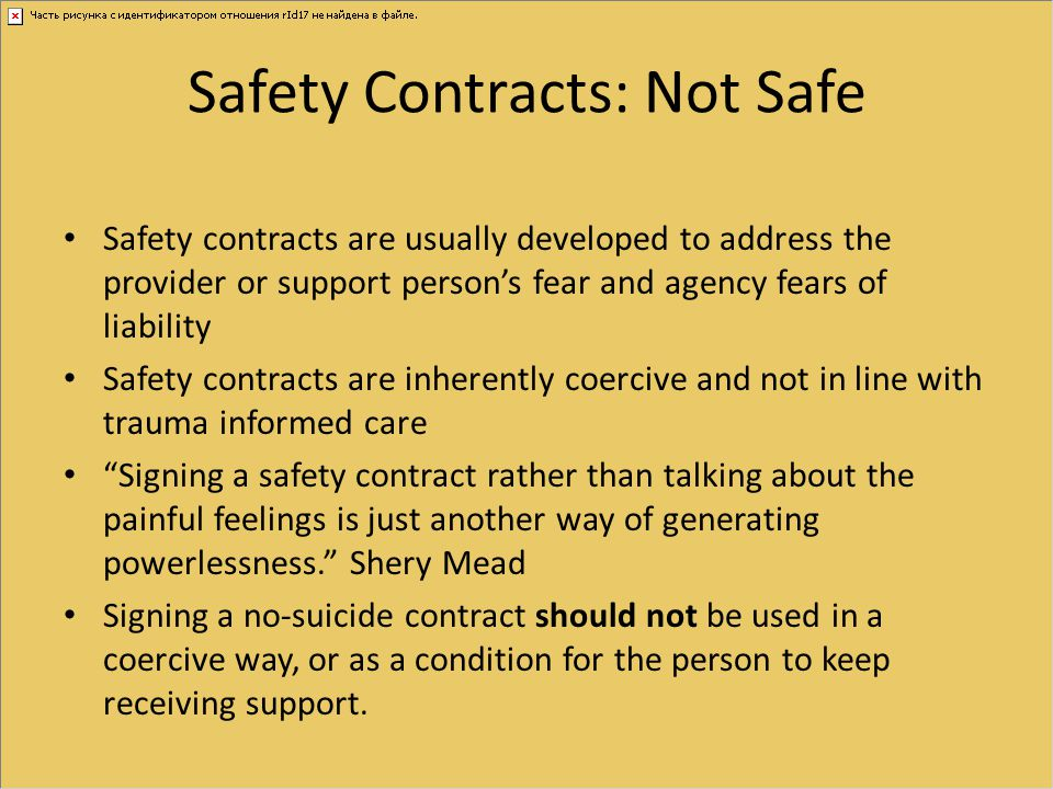 Safety Contracts: Not Safe