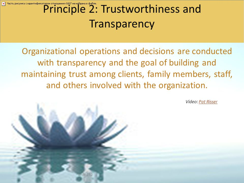 Principle 2: Trustworthiness and Transparency