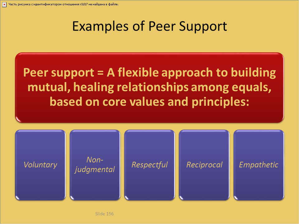 Examples of Peer Support