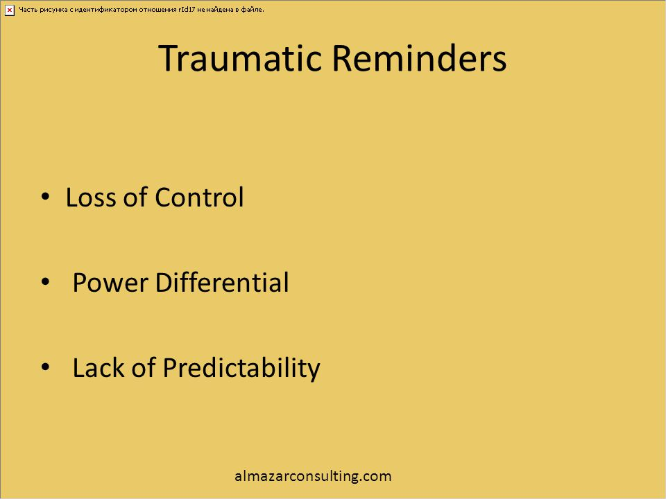 Traumatic Reminders Loss of Control Power Differential