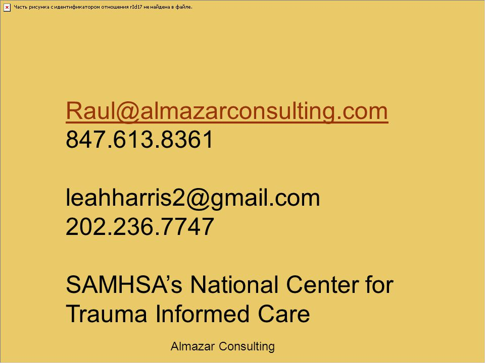 SAMHSA's National Center for Trauma Informed Care