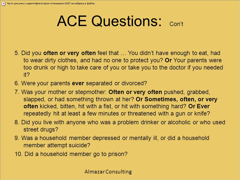 ACE Questions: Con't