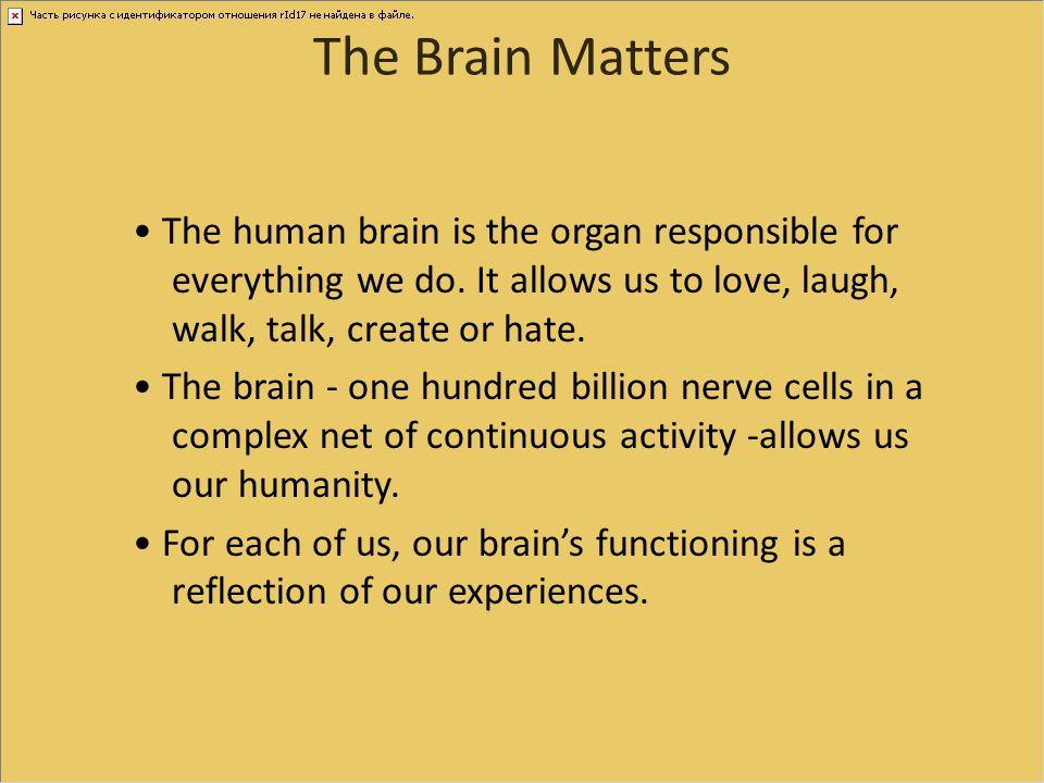 The Brain Matters