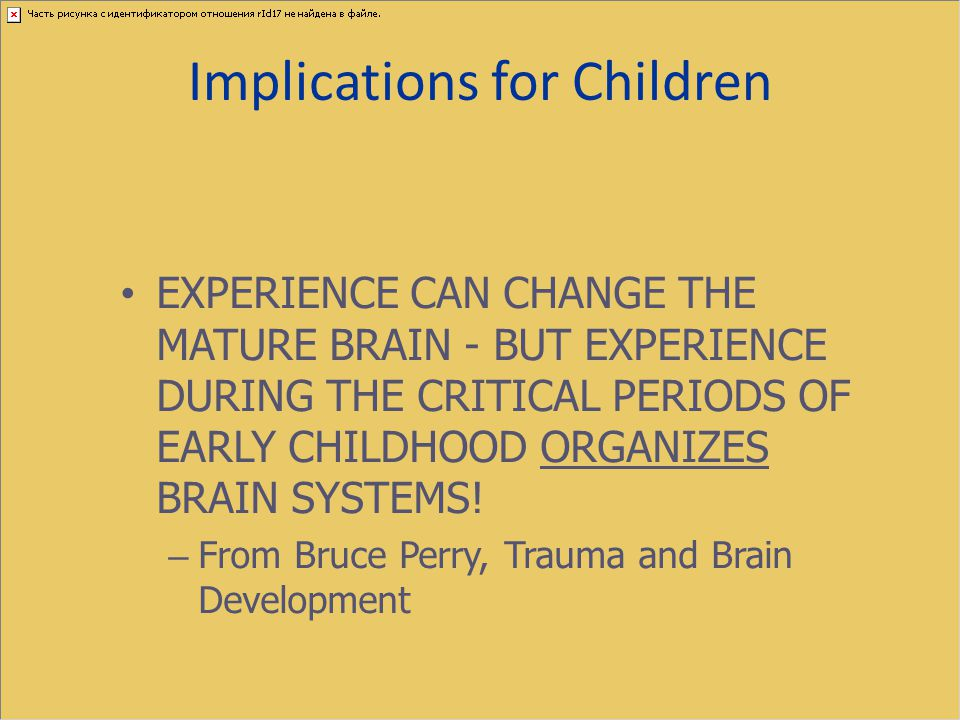 Implications for Children