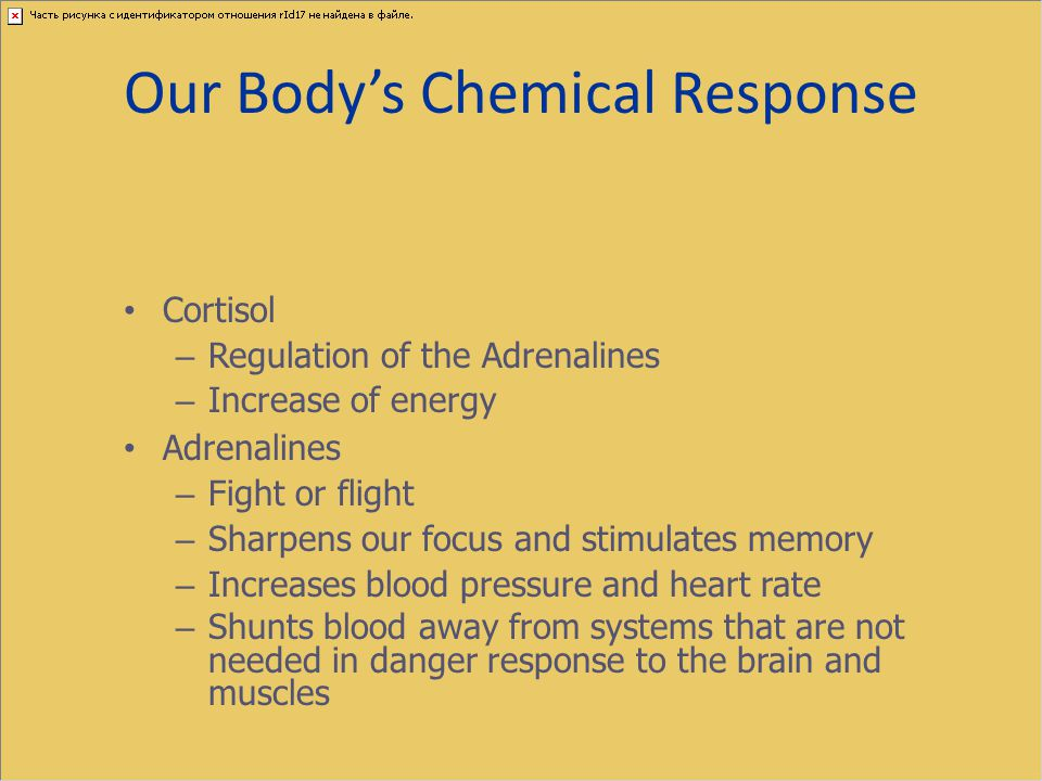 Our Body's Chemical Response