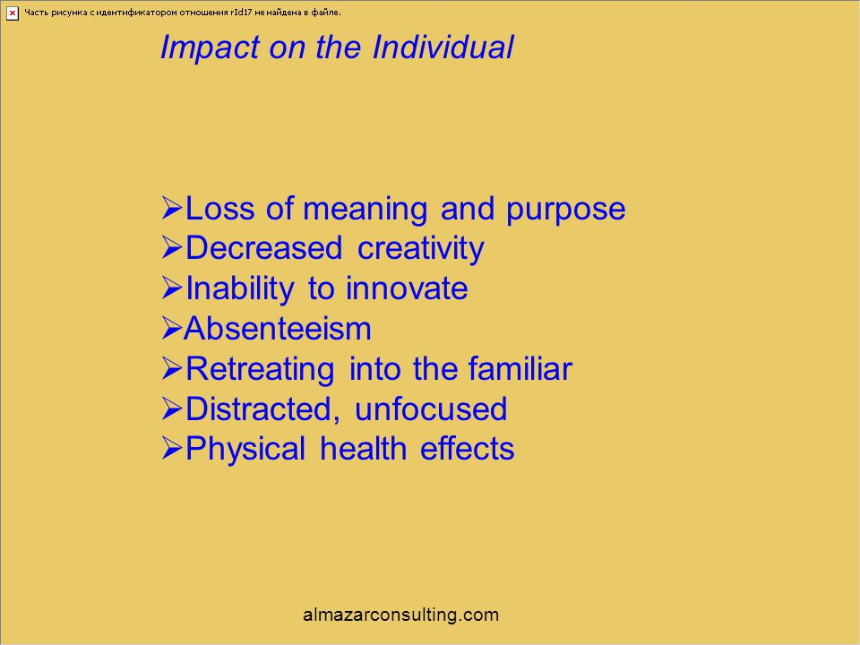 Impact on the Individual