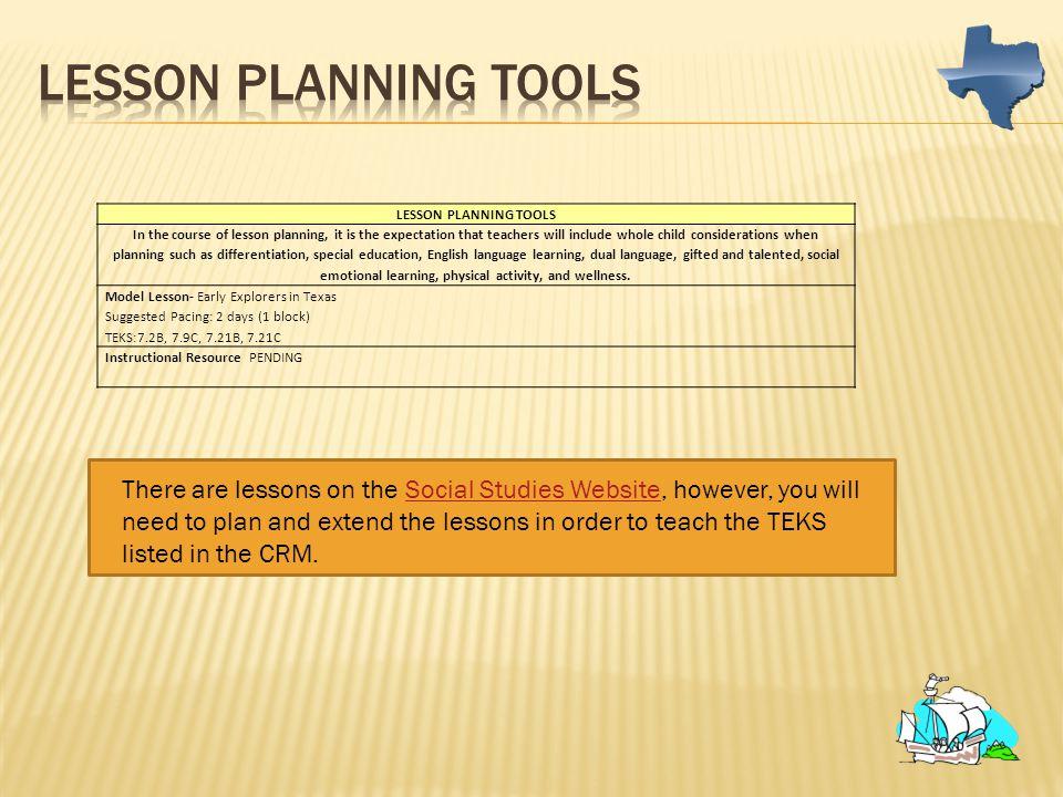 Lesson Planning Tools LESSON PLANNING TOOLS.