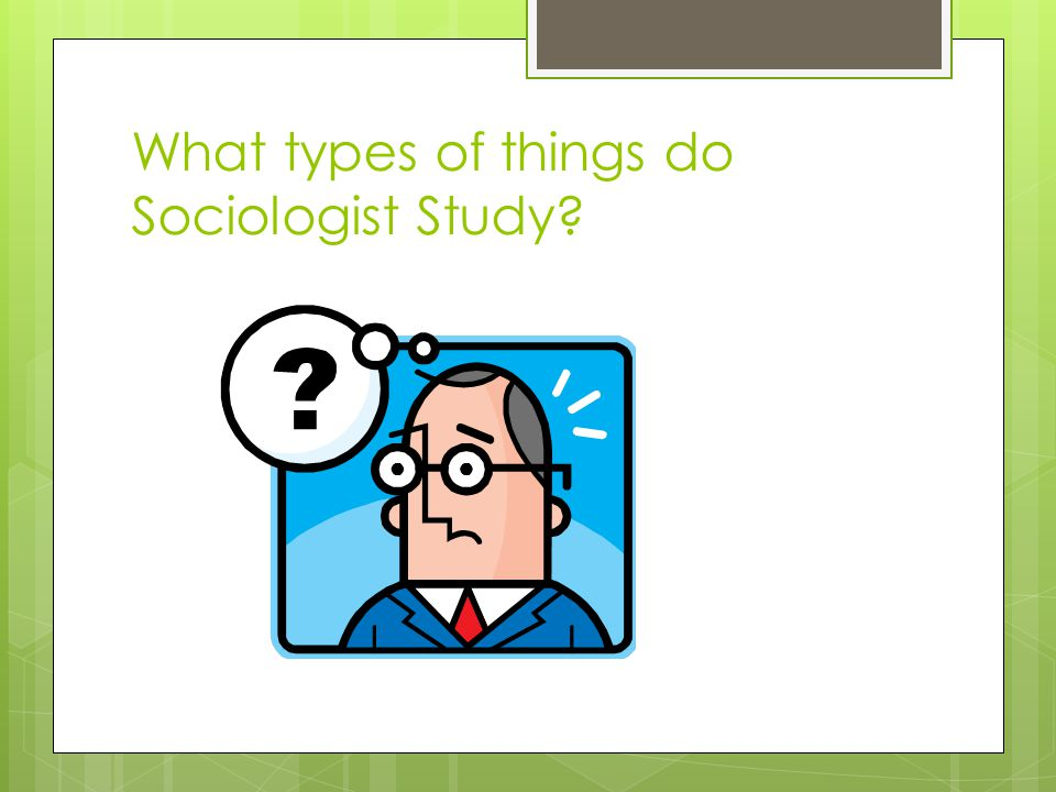 What types of things do Sociologist Study