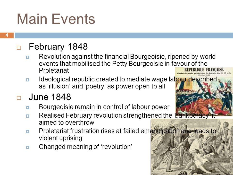 Main Events February 1848 June 1848