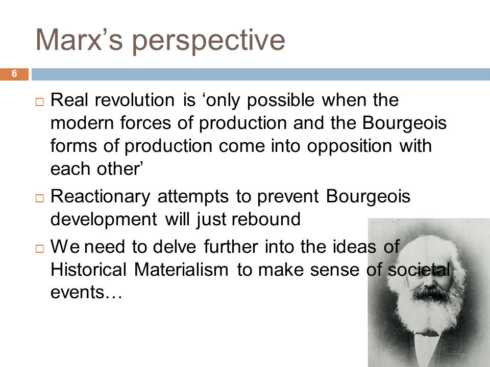 Marx's perspective 6.