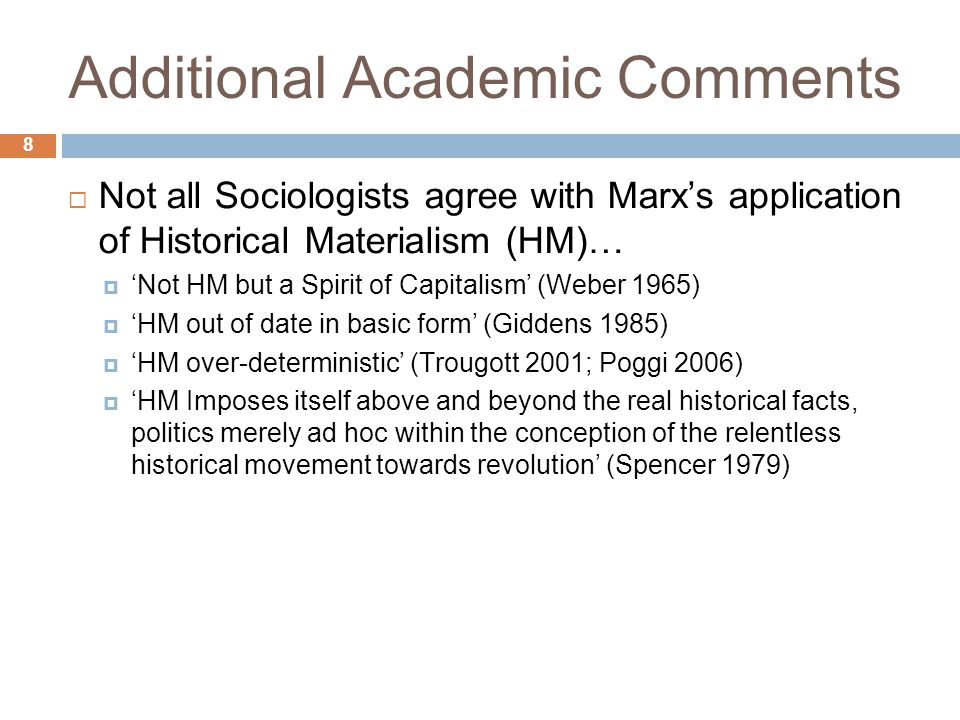 Additional Academic Comments