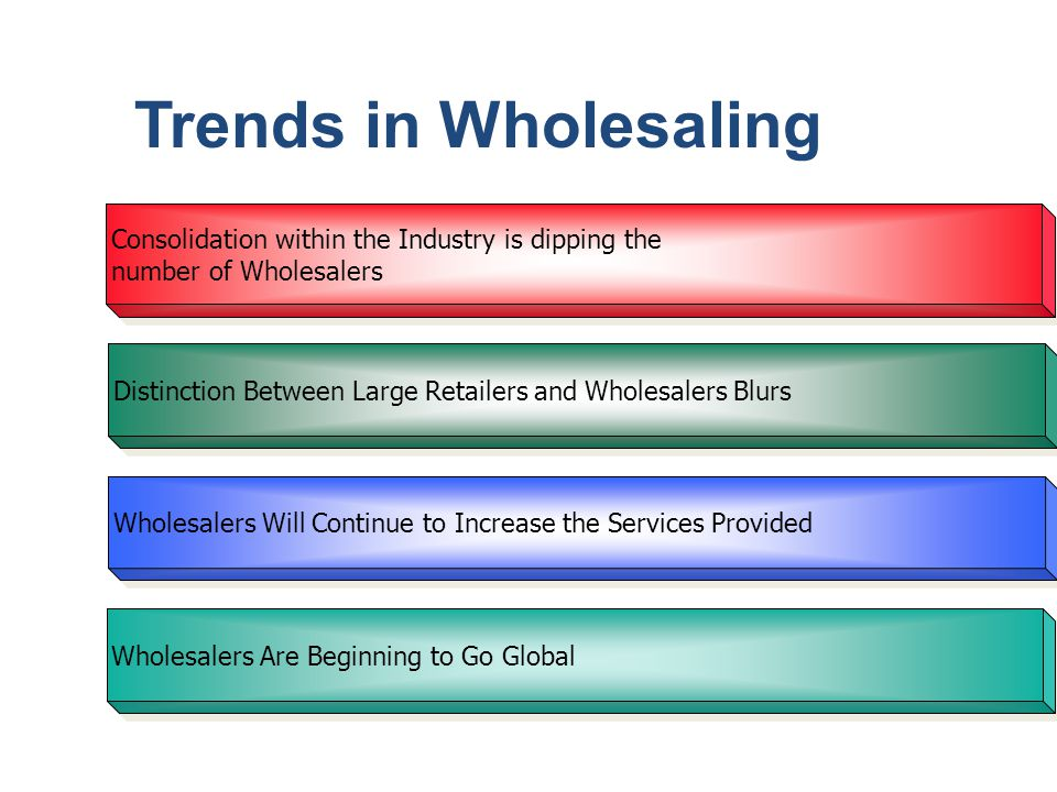 Trends in Wholesaling Consolidation within the Industry is dipping the