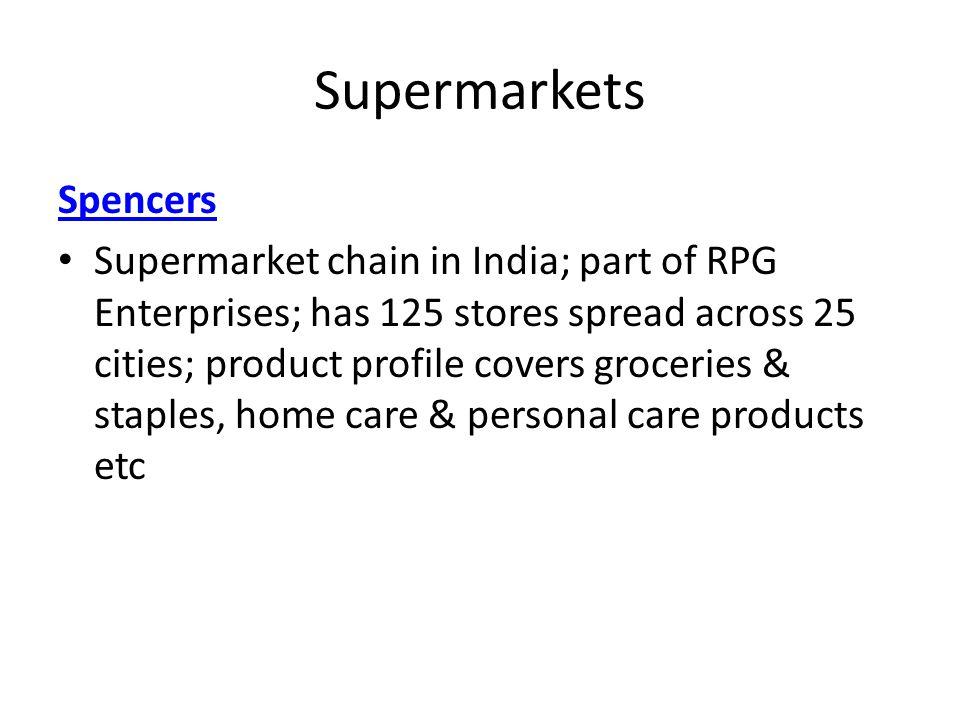 Supermarkets Spencers