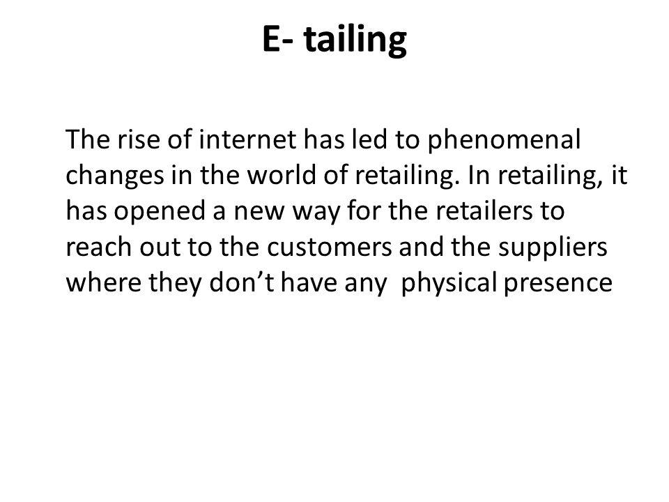 E- tailing