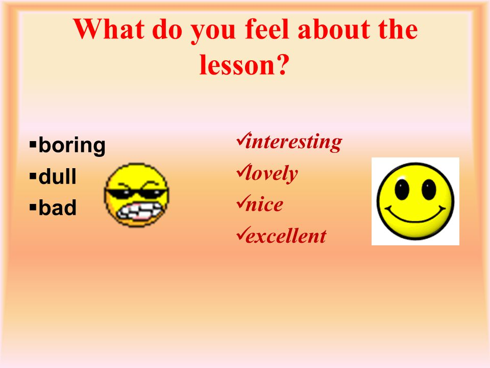 What do you feel about the lesson