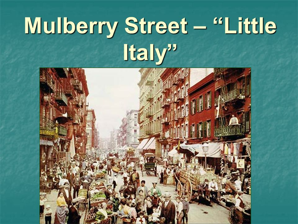 Mulberry Street – Little Italy