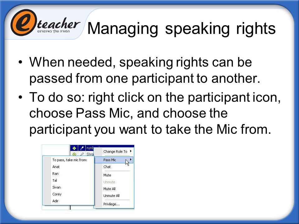 Managing speaking rights