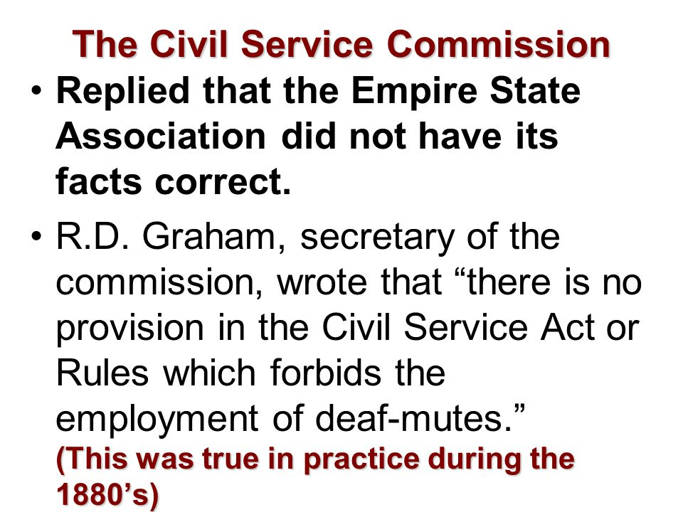 The Civil Service Commission