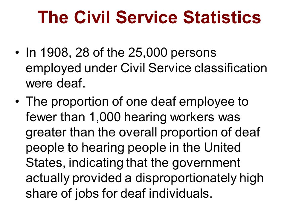 The Civil Service Statistics