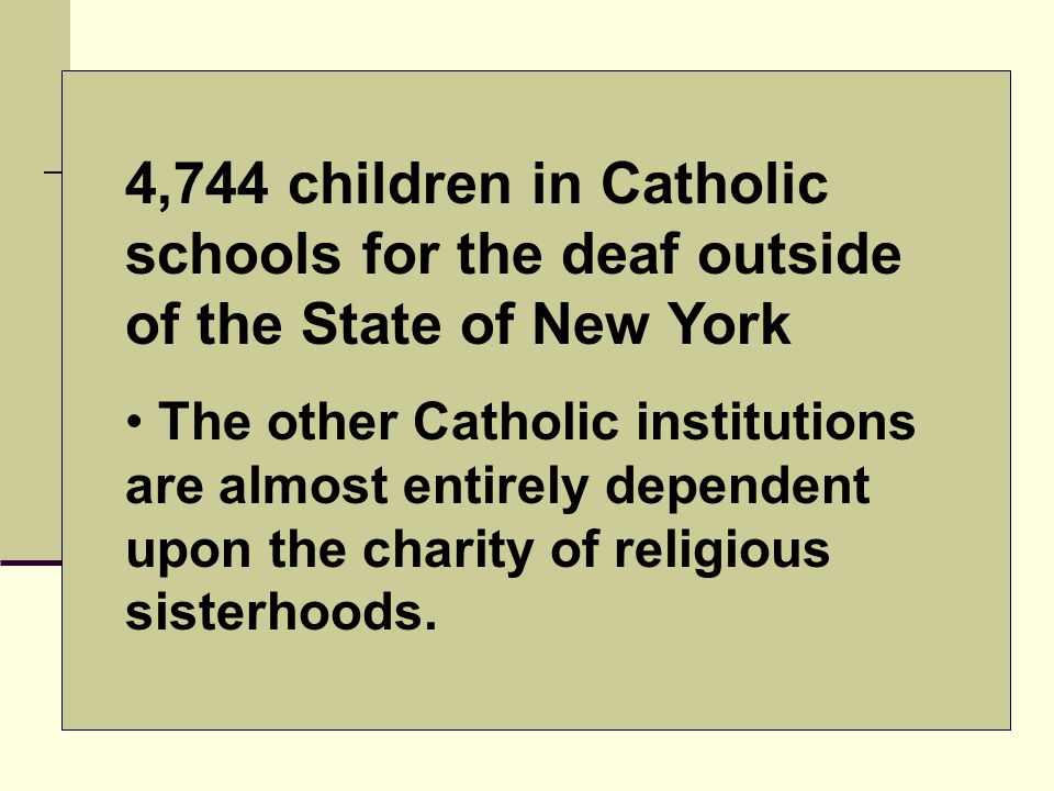 4,744 children in Catholic schools for the deaf outside of the State of New York